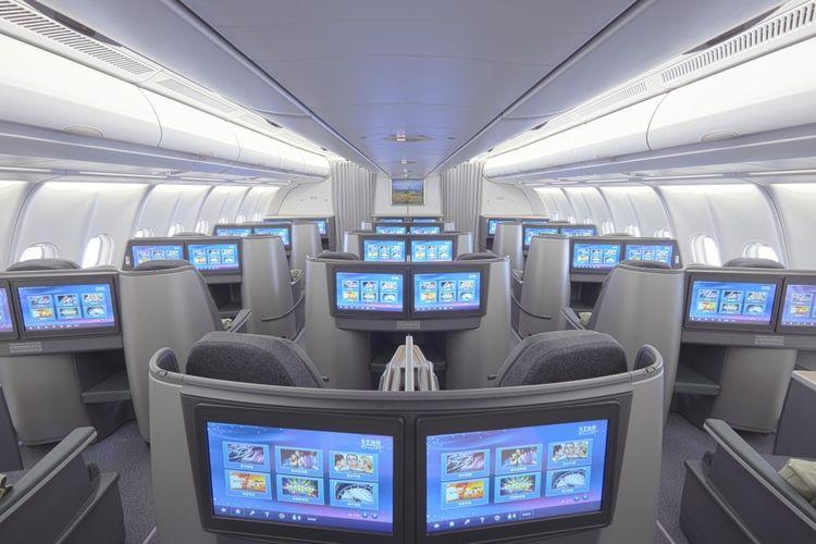 ILUSTRASI - Business class EVA Air