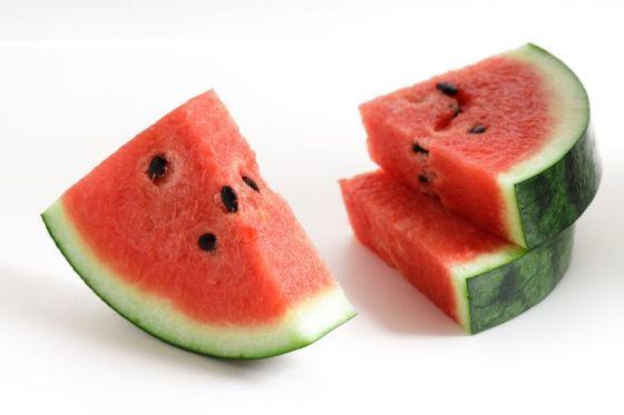 Ilustrasi bentuk kipas semangka.