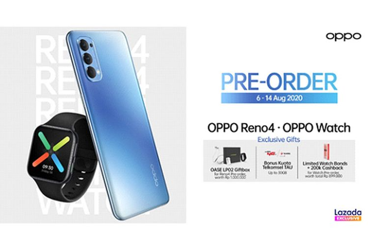 Preorder OPPO Reno4.  (Doc OPPO)