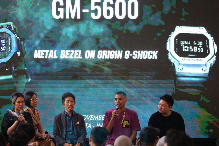 Peluncuran jam tangan G-Shock GM-5600 di Jakarta, Kamis (7/11/2019).