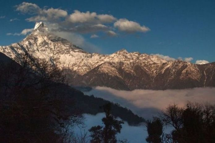 Machhapuchhare's incredibly sharp double peaks have been off-limits to climbers since the 1960s.