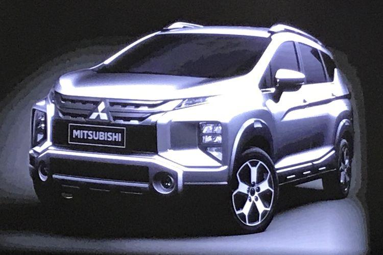 Sosok Varian Baru Mitsubishi Xpander Crossover mulai menunjukkan tampangnya.
