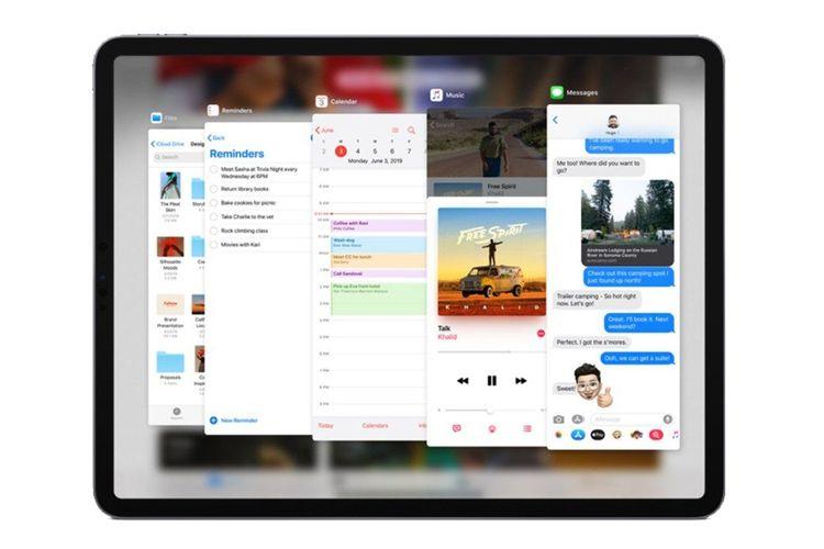 Ilustrasi tampilan iPadOS