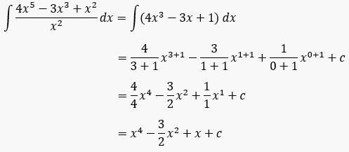 Bagaimanakah penyelesaian bentuk integral tak tentu secara sederhana? Contoh Soal Integral Tak Tentu