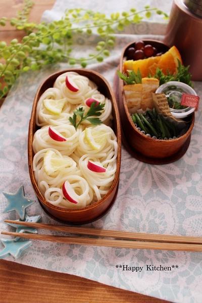 七夕の素麺弁当*と、素麺アレンジレシピ