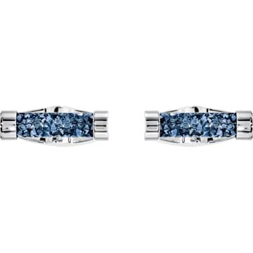 Gemelli Crystaldust, azzurro, acciaio inossidabile - Swarovski, 5427116
