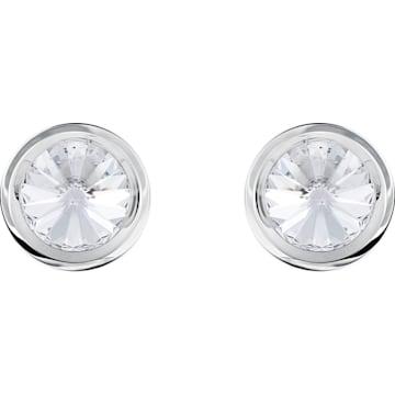 Gemelli Round, bianco, acciaio inossidabile - Swarovski, 5440319
