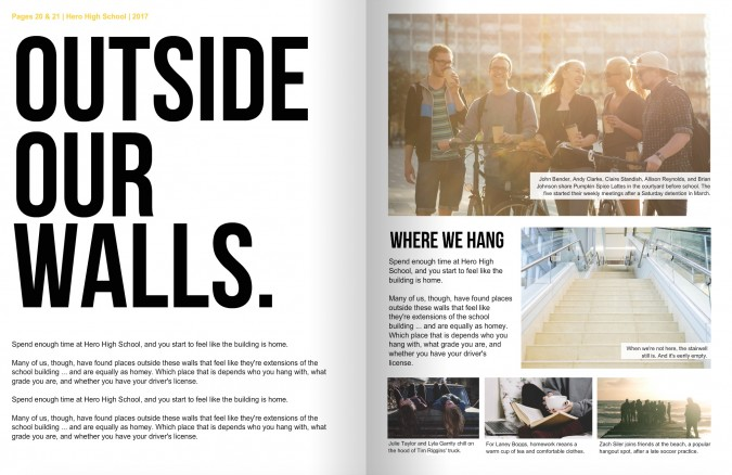 7 elements of yearbook layouts