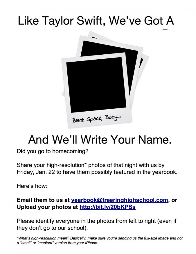 yearbook flyers for crowdsourcing content (blank space version)