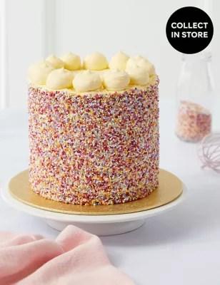 Rainbow Layers Cake Serves 12 MampS