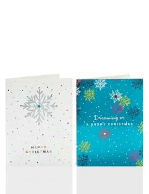 20 Snowflake Design Charity Christmas Cards MampS