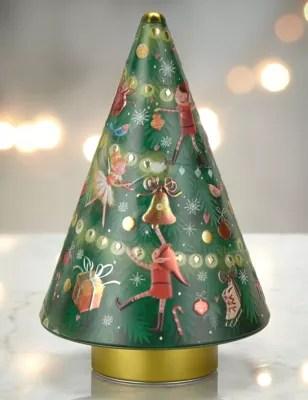 Shortbread Musical Tree Tin MampS