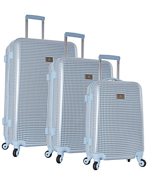 Anne Klein Manchester 3pc Herringbone Hardside Luggage Set Access Hollywood deals today