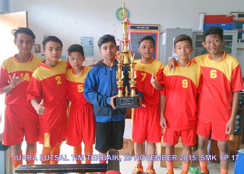 Tim Futsal SMPIT BIU, Juara Tim Terbaik Kompetisi Futsal se-Kota Bandung