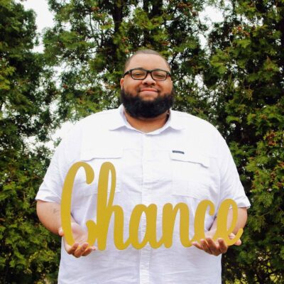 Leslie Lamar Parker, at a maternity photo shoot before the birth of his son Chance.