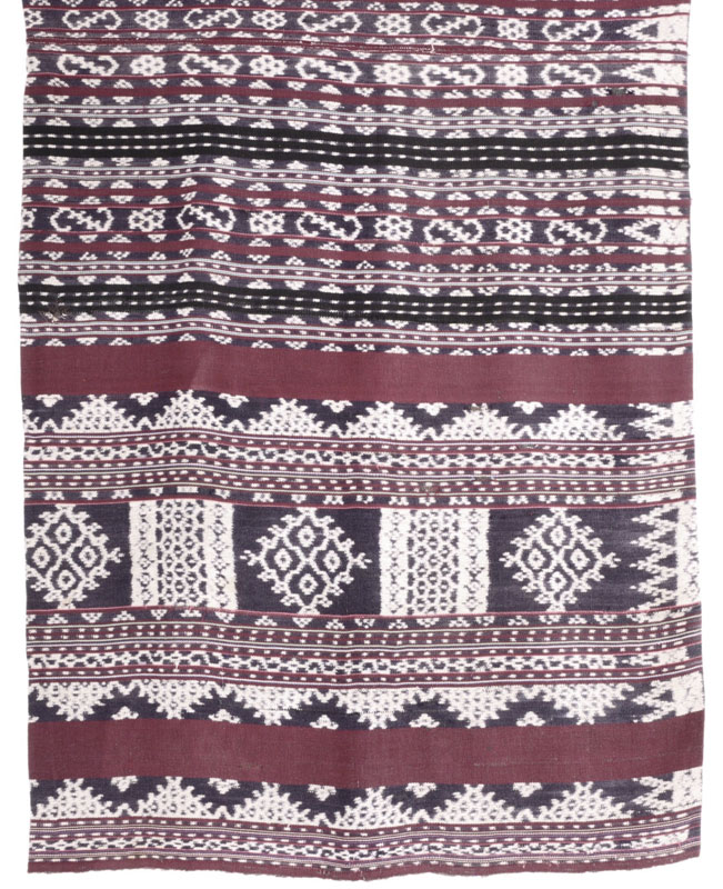 Compound ikat, naturally-dyed from Flores, Indonesia