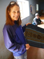 Happily showing one of the new collaborative textiles.