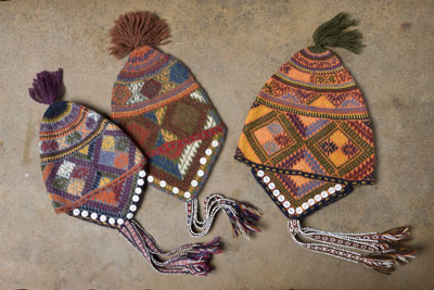 Hand Knitted Peruvian Hats for Kids & Adults