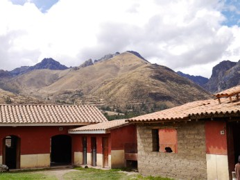 View of the mountains from the Pitumarca Weaving Center