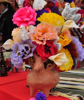 Festive Mexican paper flowers.