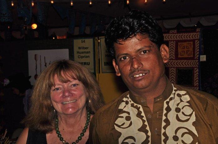Linda Stark and Indian designer Ramu Devraj Harijan.