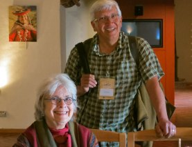 Linda Ligon, editor and publisher of Thums Books, with photographer Joe Coca.