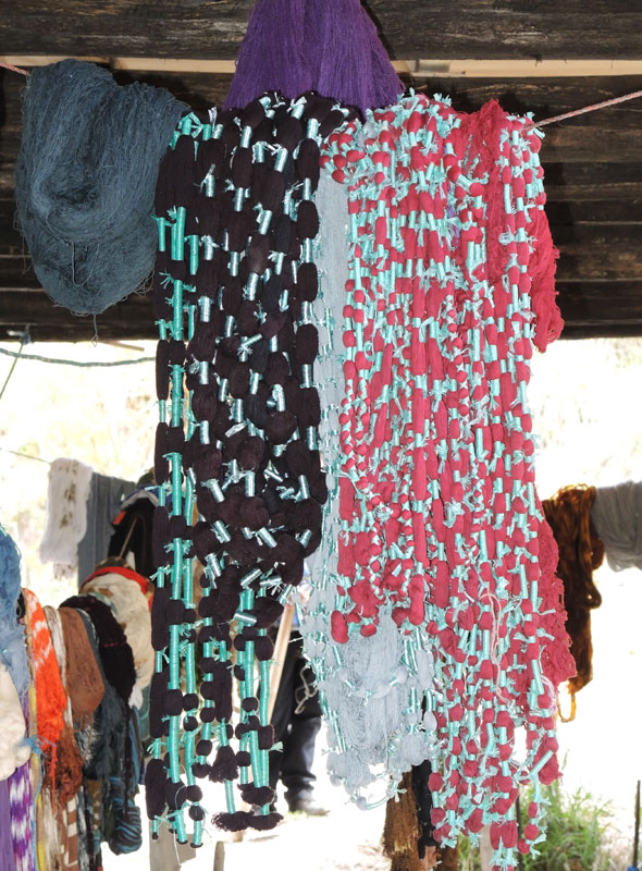 These warps are wrapped using a synthetic resist tape.