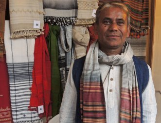 Dayalal Kudecha Dayabhai from Bhujodi, Bhuj-Kachchh (aka Kutch) in the district of Gujurat, India, attended the international weaver's gathering in Cusco, Peru this past November.