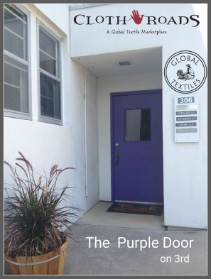 The entrance for ClothRoads is on 3rd Street. Look for the purple door,