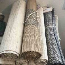 Vetiver Table Runners handwoven in Madagascar.