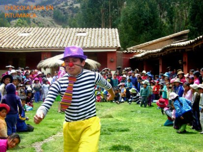 Clowning around in Pitumarca.