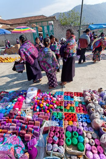 Thread buying time at the market.
