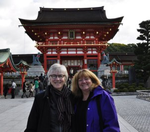 Marilyn and Linda in Kyoto, Japan.