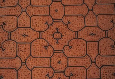 #1 Shipibo mud-painted cloth