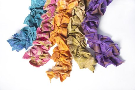 A new product for the season--ruffled scarves.