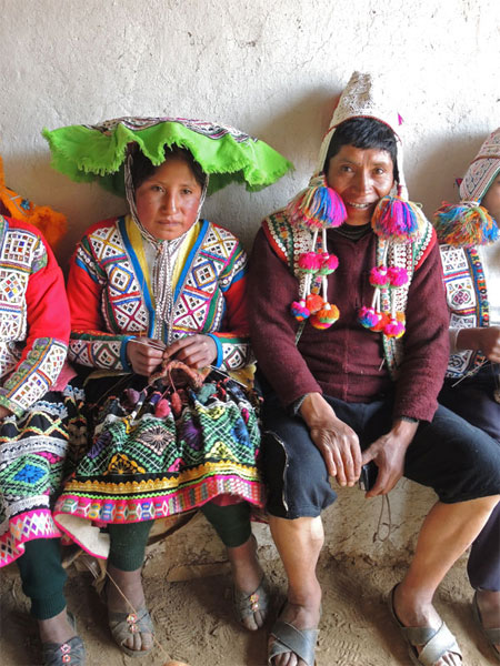 A proud papa--his daughter is secretary of the young weavers group in Huacatinco, Peru.