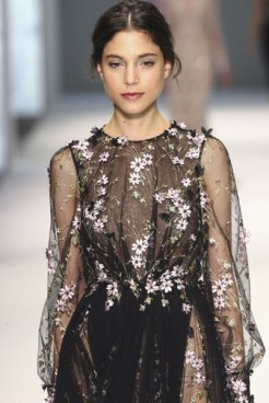 Swiss fabric company Jacob Schlaepfer has been producing hand-embellished fabrics for fashion designers and home décor for over 100 years. This beaded and embroidered piece was in the Ralph & Russo Summer 2015 collection. Photo courtesy: Jacob Schlaepfer.