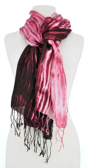 Shibori wrap dyed with lac from Ock Pop Tok.