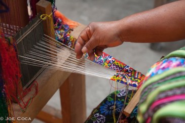 "A cinta(hair wrap or band) being woven. The cintas from Zunil are 1"" wide x 3 yards long--the finest of tapestries."