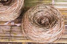 Hemp fibers ready to weave.
