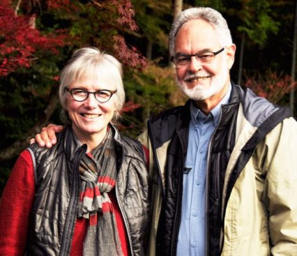 Marilyn Murphy of ClothRoads with Robert Medlock, her husband and photographer.