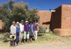 A gathering of WARP members in Abiquii post market.