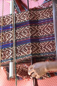 Ikat weaving underway among the Amarasi tribe of west Timor.