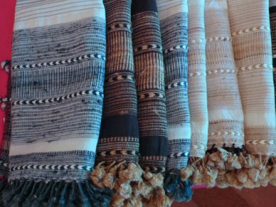 Exquisite design and fine finishing on Dayalal's weavings.