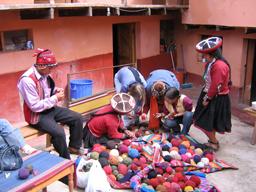 Sharing cultural yarn stories.