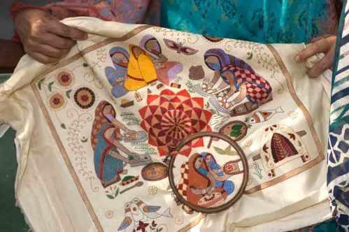 Small kantha textile. Photo courtesy of Kantha Productions LLC and Anil Advani, photographer; kanthathreads.com