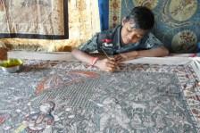 The next generation of kalamkari painter in India.
