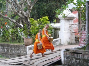 The monks returning after morning alms.