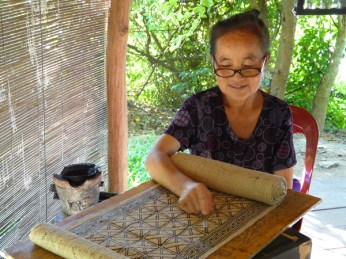 The Hmong-style, wax-resist batik at Ock Pop Tok.