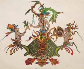 Hun Hunahpu gave corn to the Maya.